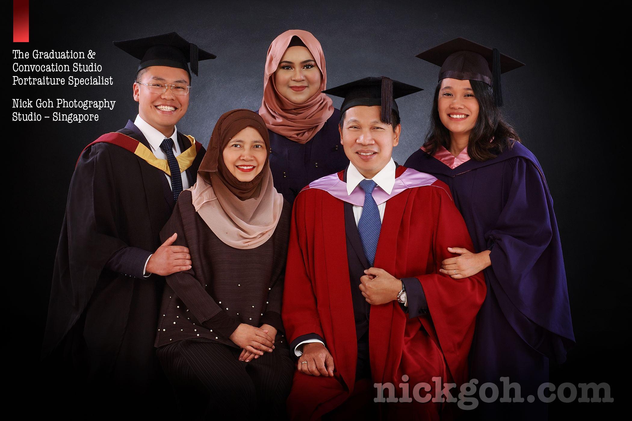 Graduation Studio Portrait Singapore - Nick Goh Photo Studio